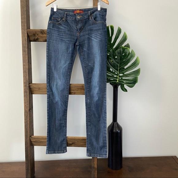 7FAMK mid rise skinny jeans 31